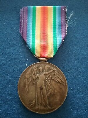 Early Issue Dull Bronze Victory Medal Ww1