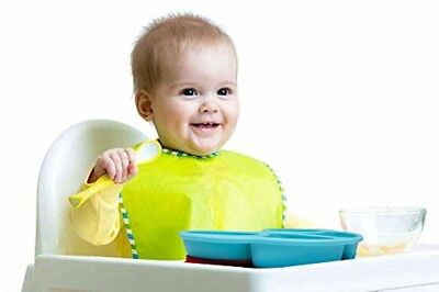 Qshare Toddler Plates, Portable Baby Plates for Toddlers, BPA-Free FDA.PA