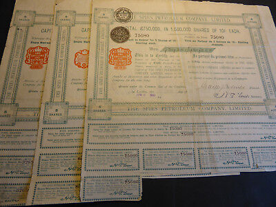 Russie / Lot : 3 X The Spies Petroleum Company Limited