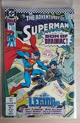 ADVENTURES of SUPERMAN Annual No. 2 1990 ...and the Son of Brainiac