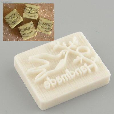 0E8C Pigeon Desing Handmade Yellow Resin Soap Stamp Stamping Mold DIY Gift
