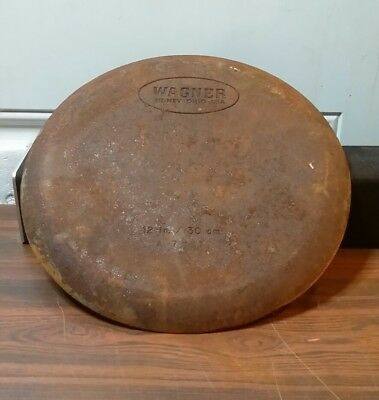 "Vintage Wagner 12 "" / 30cm cast iron skillet is pre owned     A03"