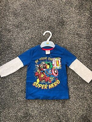 Brand New With Tags Boys Marvel Top Debenhams 12-18 Months