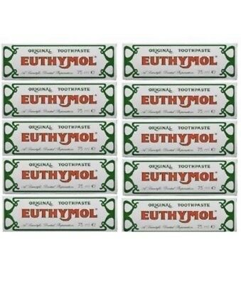12 x Euthymol Original Toothpaste 75ml BUY FROM A WHOLESALER.  EXP JUNE 2020