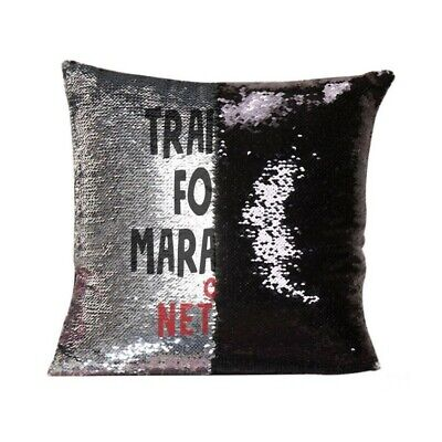 Training For Marathon On Netflix Magic Reveal Sequin Cushion Cover Pillow Gift