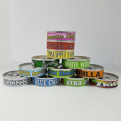5 X Press It In Tuna Tin Cans Self Sealed 100ml 3.5gram pressitin Lids & Labels