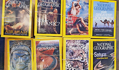 National Geographic Magazines sets - covering years 1996 to 2015