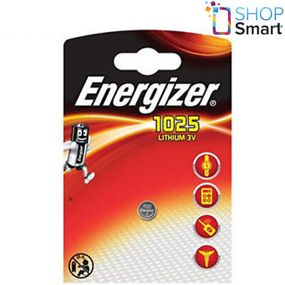 Energizer Cr1025 Lithium Battery 3V Cell Coin Button Exp 2022 New