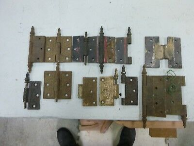 Group of decorative  antique steeple ended hinges