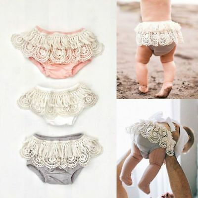 Ruffle Underwear Baby Girl 0-24M Toddler Newborn Frilly Pants Nappy Cover Diaper