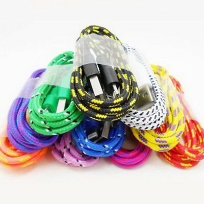 1/2/3M Braided Lightning Sync Data Cable USB Charger For Apple iphone 5/6/7 EBN