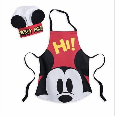 Disney Mickey Mouse  Apron and Chef Hat Set For Kids - Disney Store - BNWT