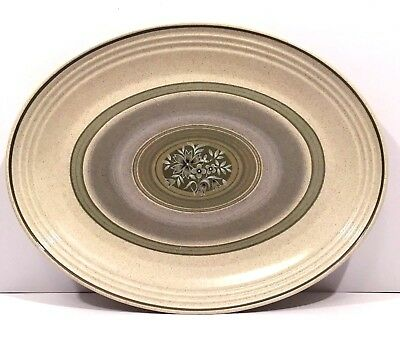 """Royal Doulton Earthflower 13"""" Oval Serving Platter Made In England LS1034"""