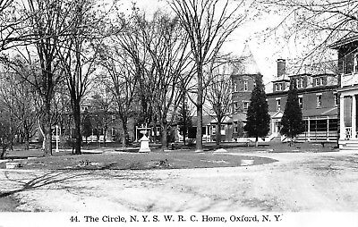The Circle N.Y.S W.R.C Home Front View Oxford N.Y Real Photo RPPC Postcard