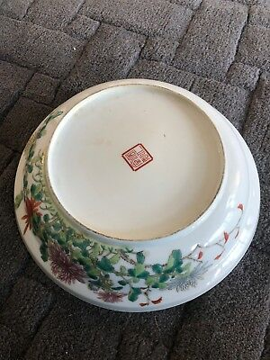 Antique Chinese Famille Rose Bowl A/F Has Chip On Rim
