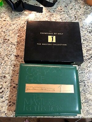 Champions Of Golf The Masters Collection 1934-1998 Gold Foil Set Tiger Woods RC