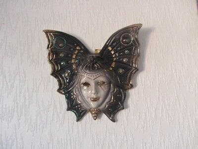 Venetian ceramic wall mask. Bought in Venice. Good condition. Butterfly.