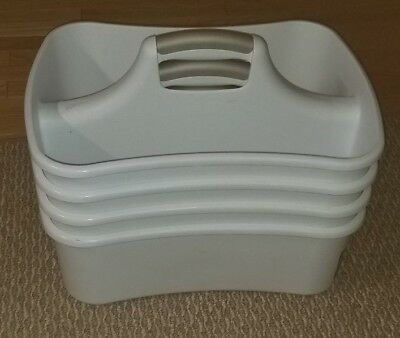 Plastic Cleaning Caddy With Handle Tote Clean Supplies - USED- Lot of 4