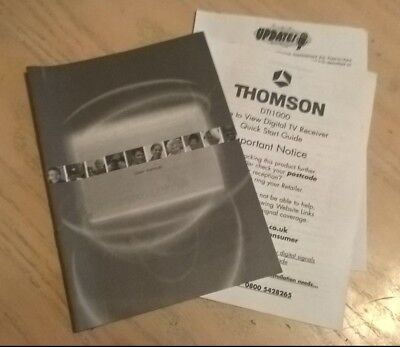 Thomson Freeview Box DTI1000 User Guide Instruction Book Manual with Update