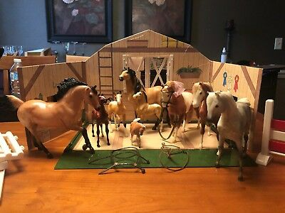 Lot Of 9 Vintage Breyer Reeves Molding Co Horses Colts Horse Classic Stablemates