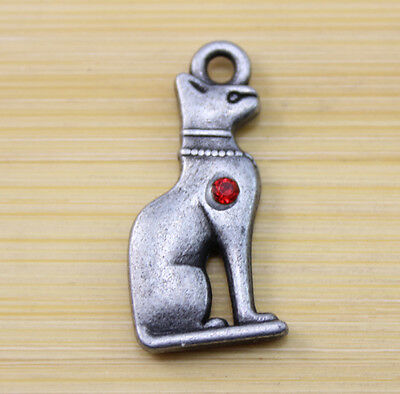 10 pcs Ancient Egyptian Civilization God dog alloy Charm Pendant 28x13 mm