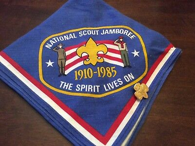 National Scout Jamboree:  1910-1985:  The Spirit Lives On: With Pin: Neckerchief