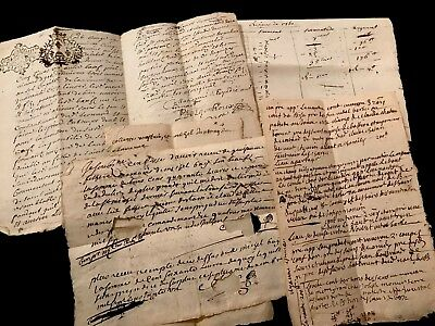 LOT OF FIVE documents 1700s