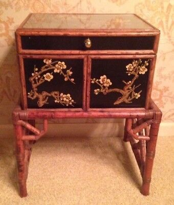Vintage Asian Oriental Chest On Stand - Chinoiserie - Excellent Condition