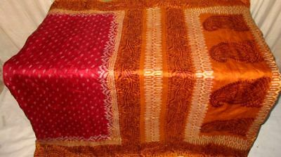 Maroon Brown Pure Silk 4 yard Vintage Sari Saree inspired happy shopping #9EHLG
