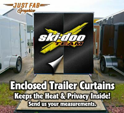 Custom Ski-Doo Enclosed Rear Trailer Curtains Yamaha Polaris Arctic Cat