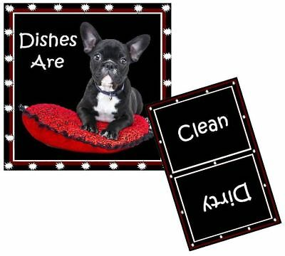 DOG DISHWASHER MAGNET - Boston Terrier - Clean/Dirty *Ship FREE