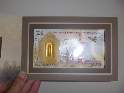 ARMENIA NOAH'S ARK 500 DRAM 2017 COMPARATIVE BANKNOTE UNC NEW  polymer note
