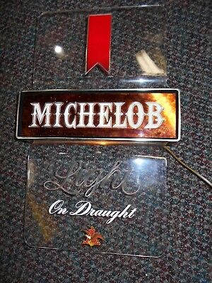 """VINTAGE  MICHELOB  - LIGHTED  SIGN ,TAVERN , BAR, WALL SIGN 11 3/4"""" x 18""""  Works"""