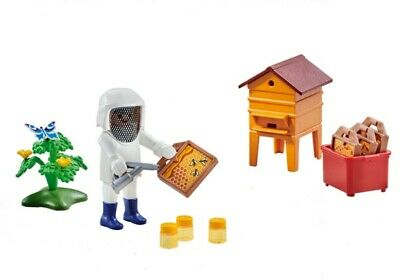 Playmobil Add On #6573 Beekeeper with Hive - New Factory Sealed