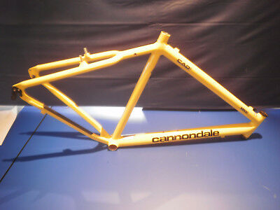 Cannondale CAD2 gelb M500 Made in USA 26 Zoll Höhe ab Mitte Tretlager 52.5 cm