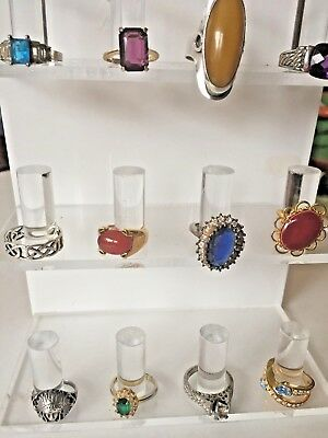 Lot of Rings Vintage & Fashion 12 Assorted Sizes Styles Designs One Sterling