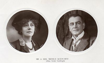 r.p. postcard of Mr. and Mrs. Arthur Bourcher Victorian/Edwardian actors