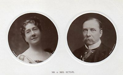 r.p. postcard of Mr. and Mrs William Hunter Kendal, Edwardian actors
