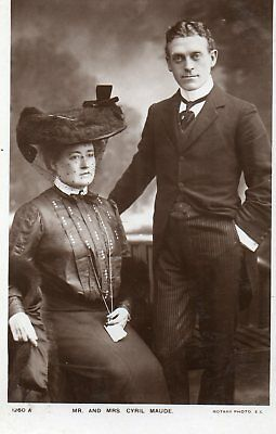 r.p. postcard of Mr. and Mrs. Cyril Maude, Edwardian actors