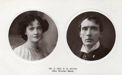 r.p. postcard of Mr. and Mrs. H.B. Irving, Edwardian actors