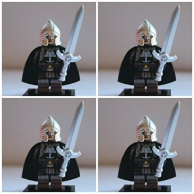 Lord Of The Rings Gondor Soldiers  The Hobbit Toy Mini Figures use with lego 9