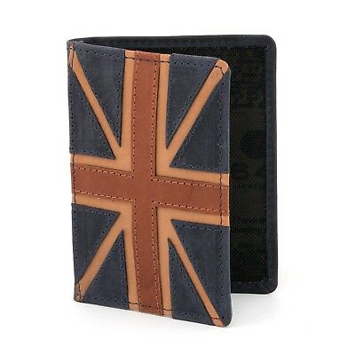 Genuine Leather Travel Pass / Oyster Card Holder Union Jack by 1642 - RRP £12.50