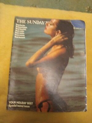 The Sunday Times Magazine DECEMBER 21st 1975 Vintage -Special Travel issue