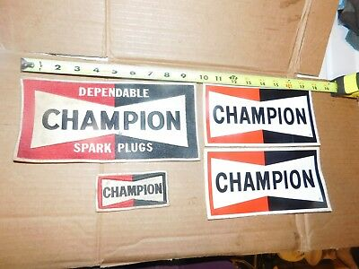 Vintage Champion Racing Spark Plug Patches Stickers Advertising Merchandising