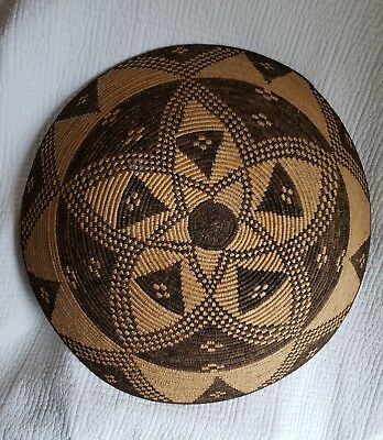 LARGE 19 inch Old  Pictorial Navajo  Basket a BEAUTY