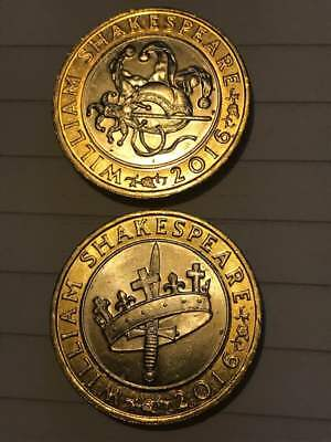 Shakespeare Jester & Crown 2016 £2 Two Pound Coin