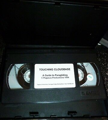 outdoor sports paragliding VHS touching cloudbase guide lan currer 1994 excellen
