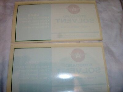 """{ 11 } 1940's 50'S TIDEWATER OIL CO. FLYING """"A""""  VEEDOL OIL CAN DECAL'S & MORE"""