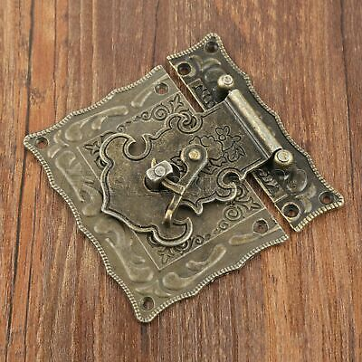 Antique Bronze Carved Jewelry Box Wine Case Suitcase Clasp Hasp Latch AU STOCK