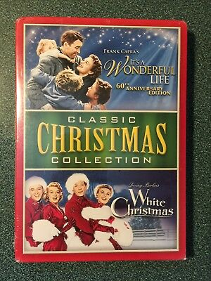 2 Movie Christmas DVD It's A Wonderful Life And White Christmas